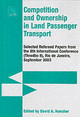 Competition And Ownership In Land Passenger Transport - Hensher, David A. (EDT) - ISBN: 9780080445809