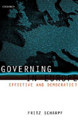 Governing In Europe - Scharpf, Fritz (director, Director, Max-planck Institute For The Study Of Societies, Cologne) - ISBN: 9780198295457