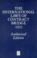 International Laws Of Contract Bridge 1993 - Crawley, Peter; Portland Club - ISBN: 9780575052529