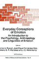 Everyday Conceptions Of Emotion - ISBN: 9780792334798