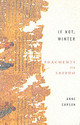 If Not, Winter: Fragments Of Sappho - Carson, Anne - ISBN: 9781844080816