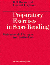 Preparatory Exercises In Score Reading - Morris, Reginald O./ Ferguson, Howard - ISBN: 9780193214750