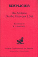 """On Aristotle """"on The Heavens 1.5-9"""" - Simplicius, Of Cilicia - ISBN: 9780715632314"""