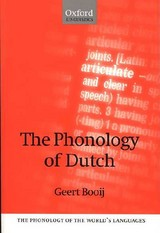 Phonology Of Dutch - Booij, Geert - ISBN: 9780198238690