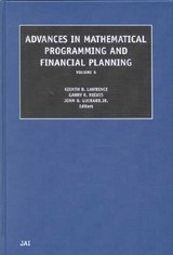 Advances In Mathematical Programming And Financial Planning - Lawrence, Kenneth D. (EDT) - ISBN: 9780762308323
