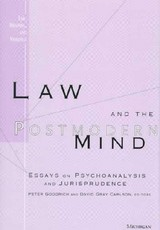 Law And The Postmodern Mind - Goodrich, Peter (EDT)/ Carlson, David Gray (EDT) - ISBN: 9780472108411