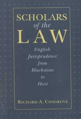 Scholars Of The Law - Cosgrove, Richard A. - ISBN: 9780814715338