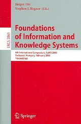 Foundations Of Information And Knowledge Systems - Dix, Jurgen (EDT)/ Hegner, Stephen J. (EDT) - ISBN: 9783540317821