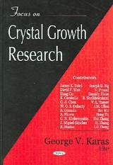 Focus On Crystal Growth Research - Karas, George V. (EDT) - ISBN: 9781594545405