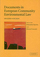 Documents In European Community Environmental Law - ISBN: 9780521540612
