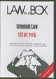 Criminal Law In A Box; Study Pack - ISBN: 9781905507047
