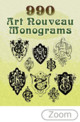 990 Art Nouveau Monograms - Dover - ISBN: 9780486454238