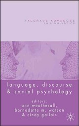 Language, Discourse And Social Psychology - ISBN: 9781403995940