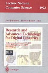 Research and Advanced Technology for Digital Libraries - ISBN: 9783540410232
