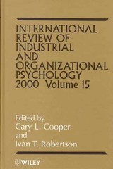 International Review Of Industrial And Organizational Psychology 2000 - Cooper, C. L. - ISBN: 9780471858553
