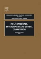 Multinationals, Environment And Global Competition - Lundan, Sarianna M. (EDT) - ISBN: 9780762309665