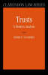 Trusts: A Modern Analysis - Chambers, Robert (professor Of Property Law At University College London) - ISBN: 9780199272594
