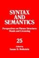 Syntax And Semantics - Rothstein, Susan D. - ISBN: 9780126061062