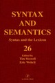 Syntax And The Lexicon - Stowell, Tim/ Wehrli, Eric (EDT) - ISBN: 9780126135268
