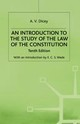 Introduction To The Study Of The Law Of The Constitution - Dicey, A.v. - ISBN: 9780333015360
