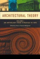 Architectural Theory - ISBN: 9781405102582