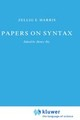 Papers On Syntax - Harris, Z. - ISBN: 9789027712660