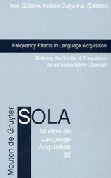 Frequency Effects In Language Acquisition - ISBN: 9783110196719