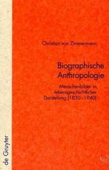 Biographische Anthropologie - Zimmermann, Christian - ISBN: 9783110188639