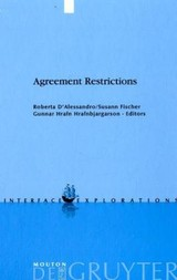 Agreement Restrictions - ISBN: 9783110200652